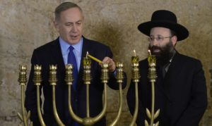 Netanyahu Celebrating Hanukkah